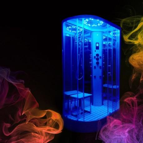 cabina hidromasaj PL12LR asimetrica cu sauna Insignia