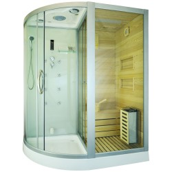 Cabina mixta cu sauna uscata alba