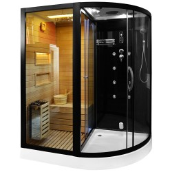 cabina mixta cu sauna uscata negru